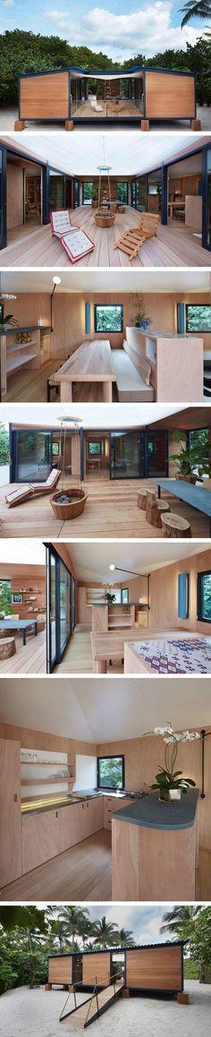 Casa de praia inovadora em Miami, EUA