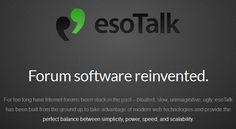 esoTalk est un forum open-source écrit en PHP/MySQL se basant sur le framework Laravel. Comme vous pouvez le voir sur la page d'accueil du site dédié, le développeur a voulu se focaliser sur la simplicité et la légèreté.        C'est vrai que la plupart des forums sont lents, manquent d'innovation et ne sont pas souvent ergonomiques....