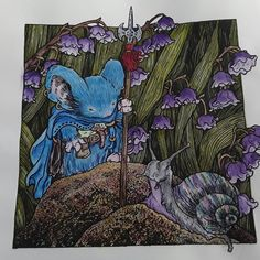 My 1st from Mouse Guard  #davidpetersen #mouseguard #mouseguardcoloringbook #derwentinktense  #inkwatercolor #fabercastellpolychromos #coloredpencil #coloringforadults #lovetocolor #lovecolors