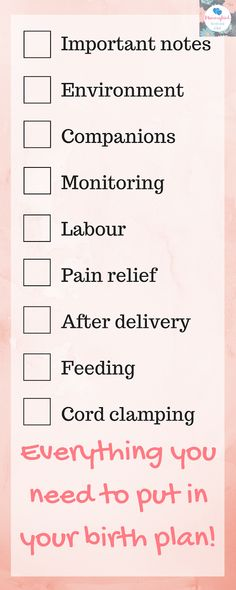 Are you expecting? Well here is everything you need to put in your Birthing Plan! #pregnant #mumtobe #mommytobe #expectantmother