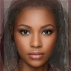 Average face of 7 women pinned onto a board 'Beauty' by @Venus Evans-Winters #averageface