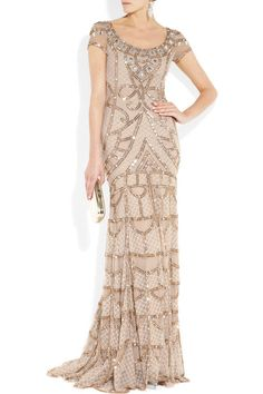 Temperley London Pale Pink Poison Embellished Tulle Gatsby Front Wide