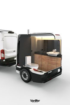 A proper shower and toilet - complete with total privacy - are luxuries few camper vans or motorhomes can boast. But here at Vanlifer, we've designed the solution - read on to find out about the Towable Bathroom. Small Camper Trailers, Tiny Camper, Small Campers, Truck Camper, Travel Trailer Camping, Van Camping, Moto Home, Vw California T6, Luxury Van
