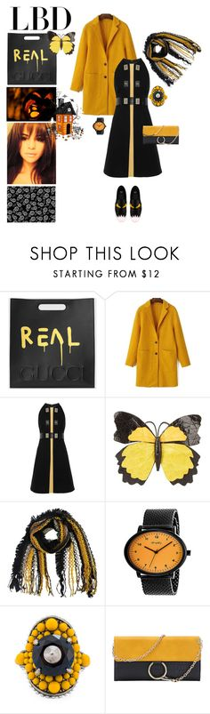 """Little Black Dress - Halloween Edition"" by taci42 ❤ liked on Polyvore featuring Gucci, Proenza Schouler, Nancy Gonzalez, Simplify, Fendi, Halloween and LittleBlackDress"