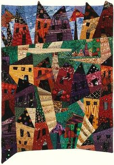 """My Kind of Town"" from Joan M. Ladendorf's Art Quilt Collection, USA"