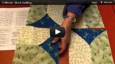 Video - 5-Minute Blocks by Suzanne McNeill @ http://www.freequiltpatterns.info/#