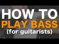 How to play bass (for guitarists) Bass Guitar Lessons, Guitar Tips, All About Music, Music School, Music Education, Playing Guitar, Drugs, Guitars, Youtube