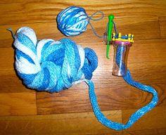 Spool knit thicker yarn