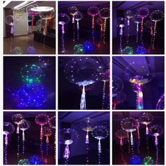 Charm Led Colorful String Light Balloon Christmas Home Garden Party Decor Helium