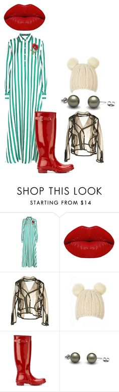 """""""It's raining outside. So what?!"""" by ka-berger ❤ liked on Polyvore featuring Dolce&Gabbana, Winky Lux, Wanda Nylon and Hunter"""