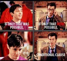 The Doctor is a grammar nerd!
