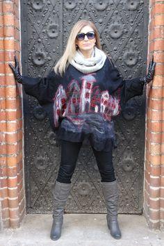 #polandhandmade #christmas #wool #silk #felt #blouse Anna Skuczynska