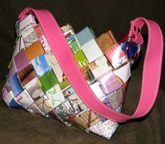 Purses Made Out Of Books | ... to make in grammar school? How about a purse made out of woven paper