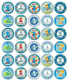 1st first #birthday boy blue #cupcake toppers edible #paper buy 2 get 3rd free!,  View more on the LINK: http://www.zeppy.io/product/gb/2/251373375416/