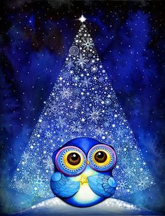 Wish Upon a Star Owl by Annya Kai.