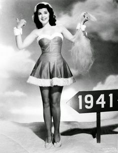 vintage everyday: 30 Vintage Hollywood Starlet Christmas Pin-up Photos Ann Rutherford