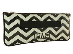 Pochette Paul Meccanico zig zag con fantasia black and white.