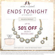 bibianarivera.chloeandisabel.com Last call! Shop our Black Friday sale before it ends tonight at 11:59pm EST!