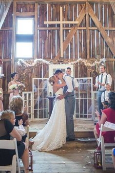 Rustic Country Style Wedding With Great Ideas For An Outdoor Wedding / http://www.himisspuff.com/rustic-indoor-barn-wedding-reception-ideas/10/ #WeddingIdeasIndoor