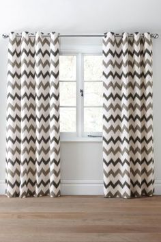 Image Result For Zig Zag Grey Print Eyelet Lined Curtains