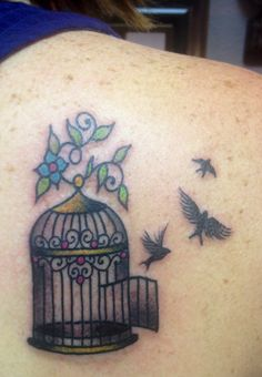 Birdcage Tattoo - Three Little Birds Tattoo - Bird Tattoo