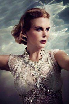 Nicole Kidman in jewel encrusted white dress