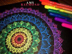 #mandala #sketch  by Amy Raymond 3/5/17.  #pigma  #doodle #inkart #mixedmedia #art #artismytherapist #zen #draw  #moonlight #gellyroll