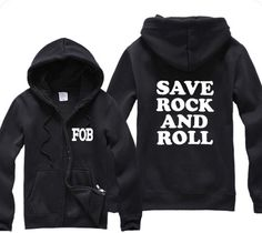 FOB Fall Out Boy Save Rock And Roll Funny Sweatshirt Sweater More Colors S - from TeeYourStyle on Etsy. Saved to band stuff. Funny Sweatshirts, Hooded Sweatshirts, Hoodies, Spring Outfits, Boy Outfits, Cute Outfits, Batman Outfits, Black Outfits, Band Merch