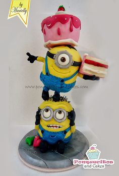 3D Tower Minions Cake