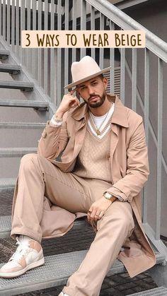 Mens Fashion Blog, Man Fashion, Street Fashion, Fashion Ideas, Business Casual Men, Men Casual, Man Dressing Style, Brown Beige, Fashion Company