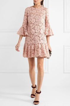 Blush corded cotton-blend guipure lace Concealed hook and zip fastening at back 71% cotton, 21% viscose, 8% polyamide; lining: 91% silk, 9% elastane Dry clean Made in Italy