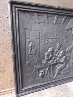 cast iron fireback. Antique Cast Iron Fireback With Coat Of Arms And Helmet | Crazy For Pinterest Helmets,