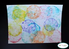Bubble Painting, kid craft