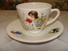 Old Figgjo Flint nursery cup & saucer. Cute. I love ebay.