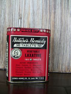 Antique Medicine Tin-Nature's Remedy Tin with Original Instructions and Tablets. $25.00, via Etsy.