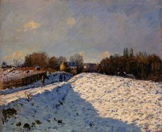 The Effect of Snow at Argenteuil, 1874 Alfred Sisley