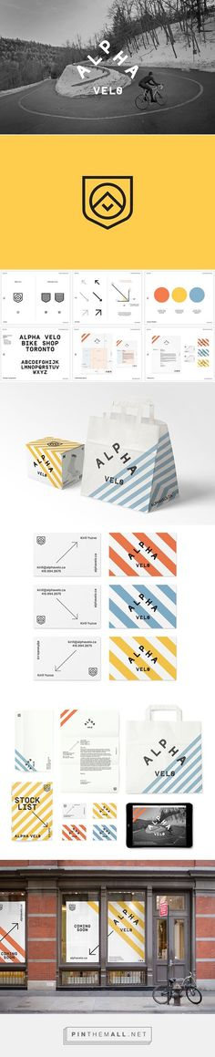 Alpha Velo Visual Identity by Mark Bain: