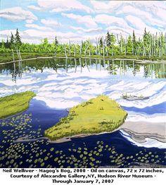 Neil Welliver- Magog's Bog,  oil painting