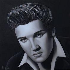 Elvis Beauty Industry, Pop Art, Stephane, Statue, Elvis Presley, Face, Painting, Traditional, Artists