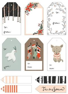 Woodland Christmas Free Printable Tags