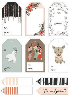 Woodland Christmas Free Printable Tags