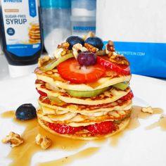 Fitness jogurtové lívance recept Bajola Pancakes, Yummy Food, Healthy Recipes, Eat, Cooking, Breakfast, Food Ideas, Kitchen, Morning Coffee