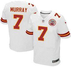 Kansas City Chiefs Jersey 7 Aaron Murray White Road NFL Nike Elite Jerseys