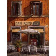 Posterazzi Cafe Roma Canvas Art - Malcolm Surridge (18 x 24)