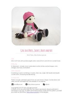 Kristi tullus doll girl in a dress