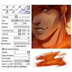 I've been asked about my brush settings a lot so this is the main textured brush i use. NOTE some of you may not have 'Dirt 2' so substitute that with 'Paper' its very similar. And if you dont have 'fine flat 3 em' then 'fine flat' is just ok too. Let me know if you have any questions! Ill post some more brush settings i use soon. by pandastrophic