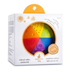 Natural Rubber Rainbow Sensory Ball