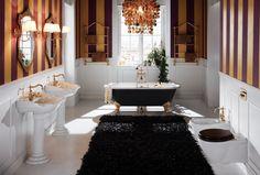 Sanitari Richmond #GaiaMobili #bathroom #bagno #arredobagno #interior #interiordesign #englishstyle #ceramic #sanitari #stileinglese #sanitary #ceramica #architect #style #details #lavabo #arredobagno #saladebanho #bathtime #designer #classic #classicstyle #home #bathroompics #gold #luxurybathroom #luxury #wc #bidet #washbasin