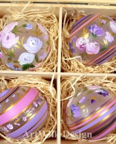 Hand painted glass balls by ArtWilk