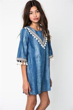 Hayden Denim Dress (Girls)